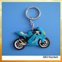 Motorcycle PVC soft rubber keychain wholesale