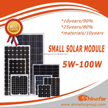 Shinefar good quality 5W 10W 25W 85W 100W Poly small solar panel photovoltaic module hot selling