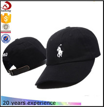 Cotton Baseball Caps Leather Strap Custom Embroidery Polo Cap Polo Hat
