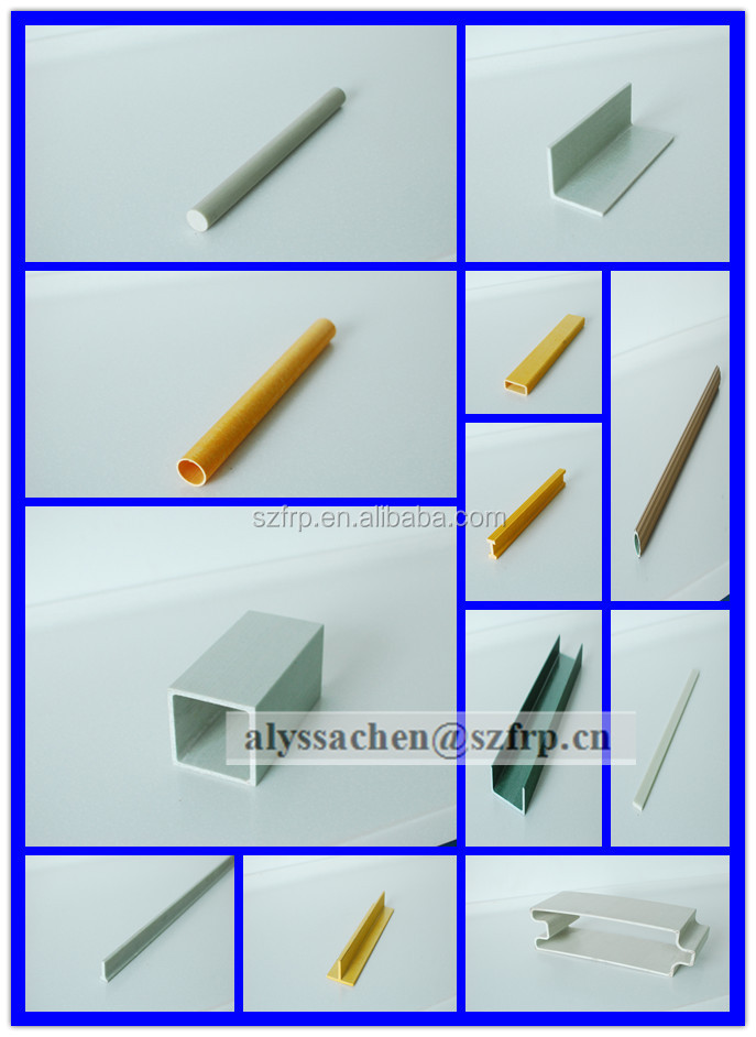 frp/ grp Glass Fiber Special Shaped Pultruded, Glass fiber pultruded, FRP profile made in China