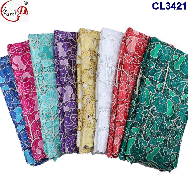 CL3421 The newest arrival net lace fabric with stones on sales, cord lace with stones with sequencs single color