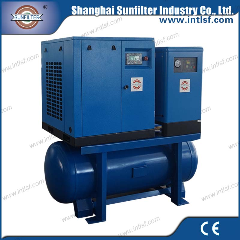 10hp 7.5kw Combined Screw Air Compressor for <strong>diesel</strong> portable screw air compressor