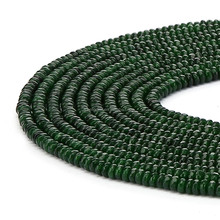 Hot Selling Faceted Rondelle Emerald Jade Gemstone Beads