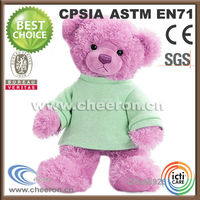 Stuffed & plush toy type love teddy bears with T-shirt