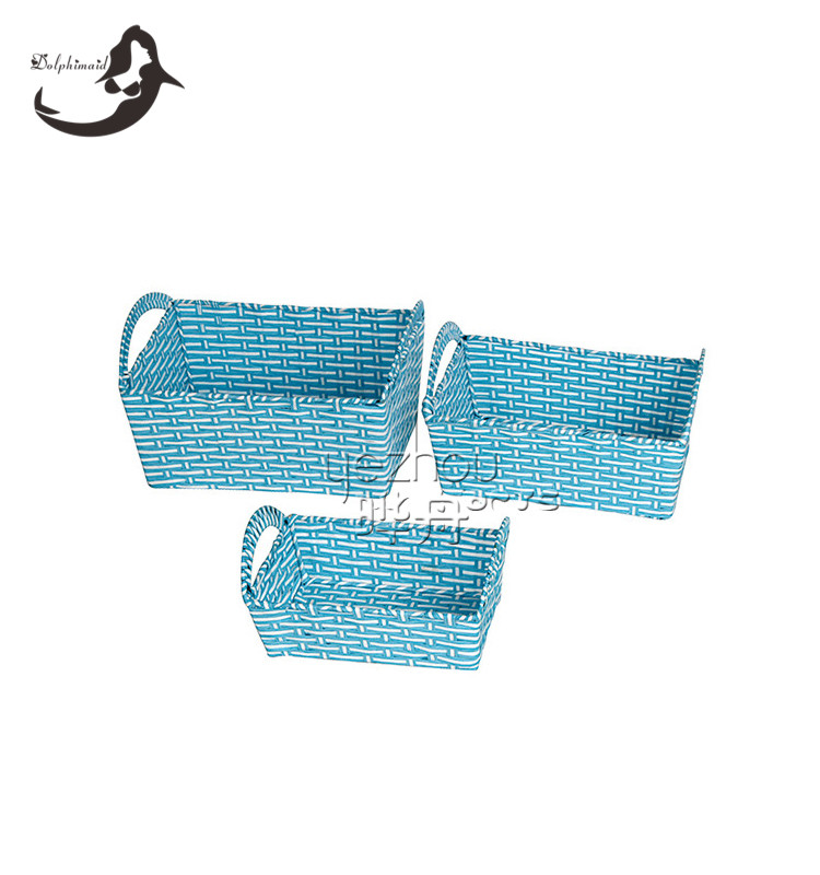 Graceful paper rattan hotel food serving basket