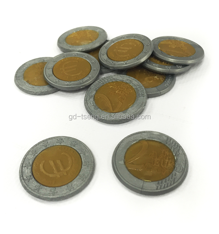 GD-500 pcs Euro coin two dollar /plastic gold coins/euro coin counter