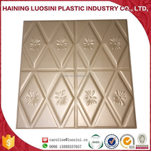 2017 newest design Sound-absorbing Faux 3D Carved leather wall panel waterproof building material 3D Carved leather wall panel
