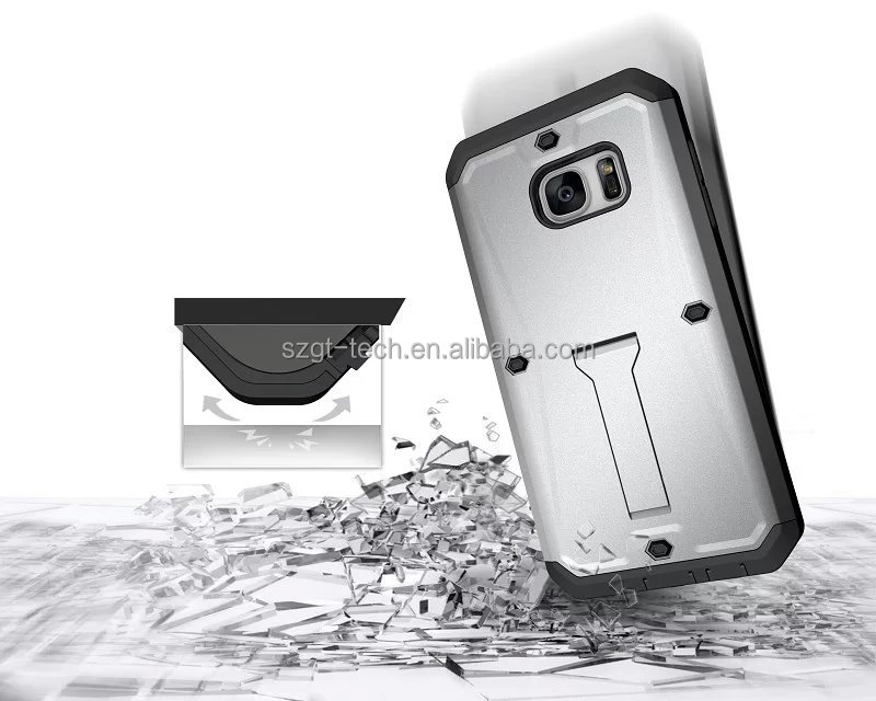3in1 kickstand Shockproof robot military case for samsung galaxy s7