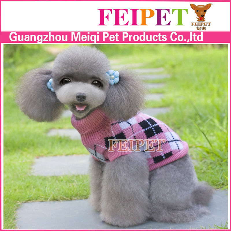 New fashion plaid pet sweater wholesale cashmere dog sweater