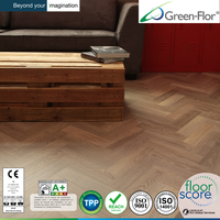 Mnin plank fish bone EU spec Nature wood design LVT pvc flooring