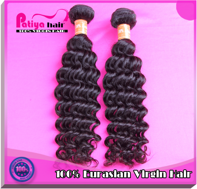 Your best choice to buy hair from Patiya hair factory beautiful deep wavy virgin Eurasian hair Europe curly weave