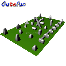 corporate games top quality inflatable pvc air barricades inflatable bunkers paintball for rental