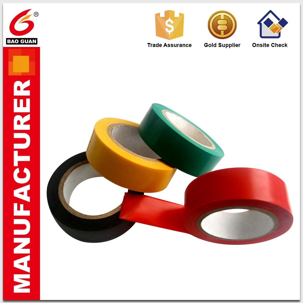 Excellent sealing and Wire winding PVC Insulation electrical tape