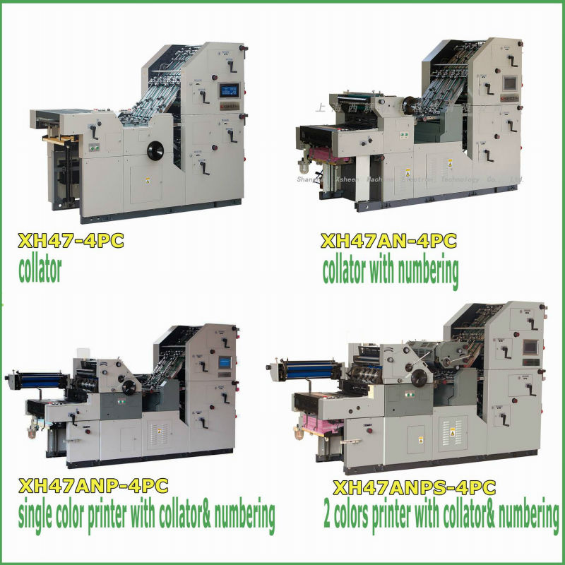 5 double colors printing with numbering , collating and perforaing machine