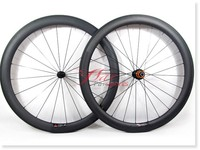 2015 new 50mm 25mm T700 carbon clincher wheels, build with Sapim spokes for bike shop