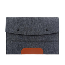fashionable style wool felt womens laptop case for girls