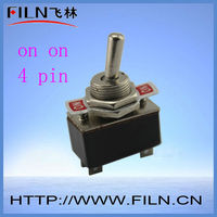 function on on/on off/on off on 10a 250v 4 pin motor rated toggle switch