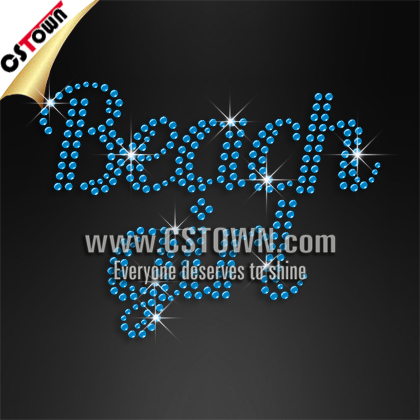 Beach girl letters rhinestone bulk wholesale iron on transfers