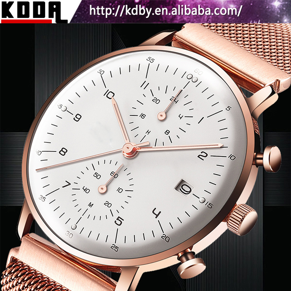 Domed Sapphire Glasses Mens Watch Stainless Steel Sapphire Crystal Watch Price