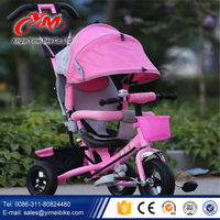 Chinese 3 Wheel Baby Tricycle New Model /2016 China factory wholesale Kids Trike/Children Tricycle with canopy