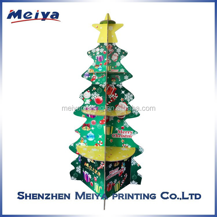 Beautiful Christmas cardboard display , cardboard display Easy Assemble Christmas Tree , Christmas Party Decoration Display