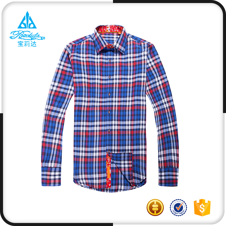 Shaoxing CVC Check quality cheap long sleeves shirts for sale