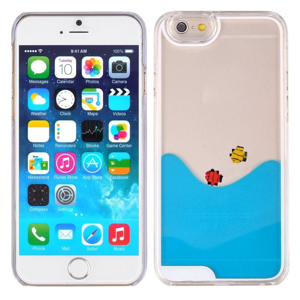 3d liquid cell phone case for iphone for samsung galaxy cover,floating liquid swimming duck/fish case
