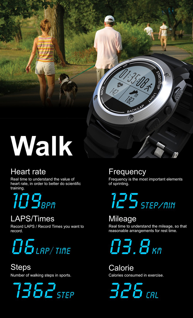 2017 Heart rate monitor Sport Tracker GPS Watch Running