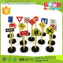 15 Pieces Per Set Wooden Traffic Signs Toy Kids Educational Learning Road Sign Toy
