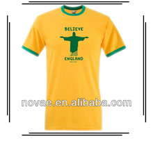 Export clothes 2014 world cup t-shirt