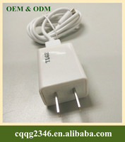 ABS Material Portable USB Power Adapter, Home Charger, EU USB Charger