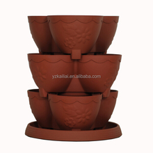 new product alibaba china supplier garden planter stackable plastic pots