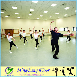 PVC sport floor /indoor anti-slip PVC sport floor for dance room