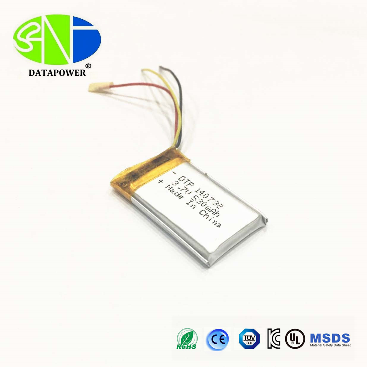UN38.3/MSDS for lipo battery 3.7v 530mah lithium polymer battery