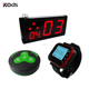 Led wireless number display board K-402NR show 2 digit with clock and transmitter 433.92mhz