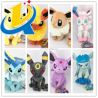 Top quality free sample lovely pokemon plush toys for sale