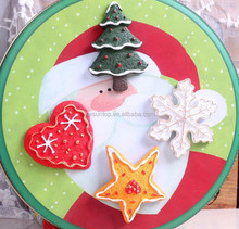 Mix Design Cartoon Biscuits Hanging Christmas Fridge Ornament Resin Christmas Decorations Fridge Magnet