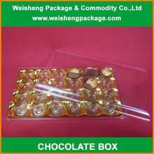 Wholesale elegant classical luxury clear plastic chocolate packaging box with lid
