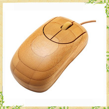 Hot sale high quality high end real bamboo computer mouse