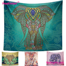 Big stock indian printed tapestry wall hanging wholesale mandala elephant