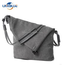 Customized Wholesale Standard Size Eco Beach Cotton Canvas Bag With Leather Handle