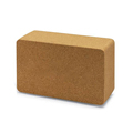 Wholesale Natural Non Toxic Gym Fitness Sport Tool High Density Customized Logo Eco Cork Yoga Block for Exercise
