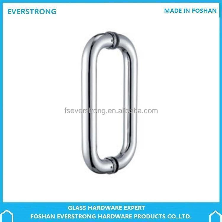 Everstrong ST-J019 round pipe double side stainless steel glass door handle