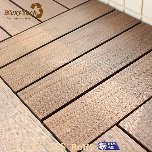 High Quality Cheap Easy Installation Interlock Diy Wpc Wood Deck Tiles