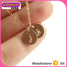 Making your own design logo tag charm necklace metal alloy jewelry,custom necklace