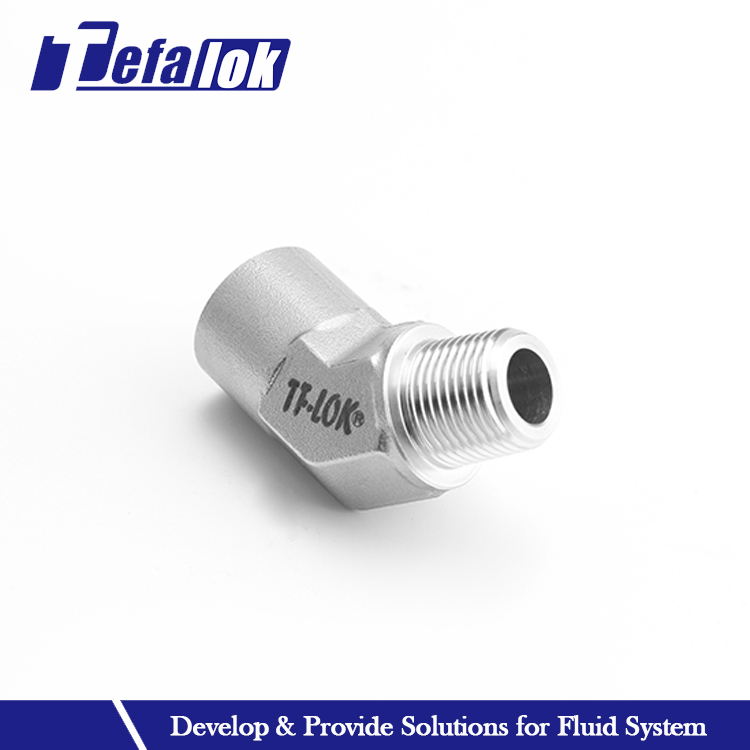stainless steel 45 degree screw threaded pipe elbow