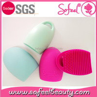 New Makeup brush cleaner silicone brush egg