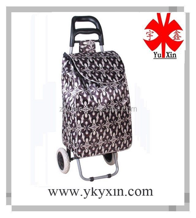 Morden desigin shopping trolley bag/Shopping trolley with PP plastic wheels