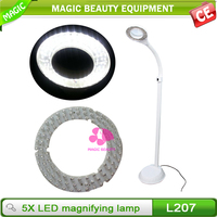 Floor stand 5X magnifying lamp/ Led The Lamp For Salon Use