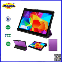 Wholesale Tablet Case 3 Folds Stand Leather Folio Case for Samsung Tab S 10.5 T800 laudtec
